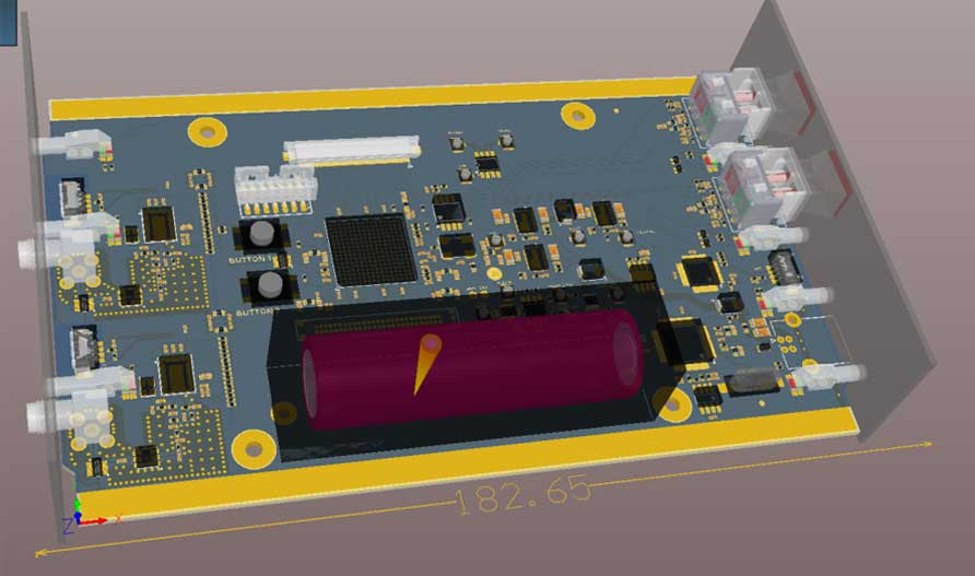 Dual channel full duplex ISM band RF modem with FPGA based routing engine
